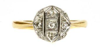 A gold diamond ring,