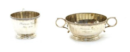 A silver Mappin and Webb cup,