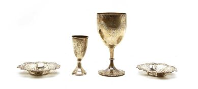 A Victorian silver goblet,
