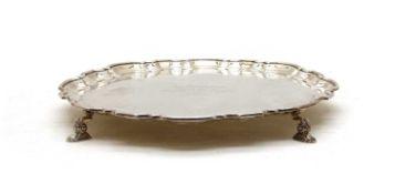 A silver salver,
