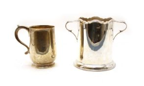 Two silver items