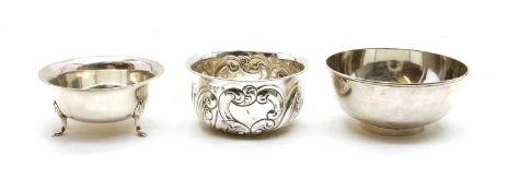 An Edwardian footed silver bowl,