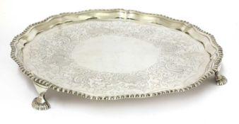 A George III silver salver,
