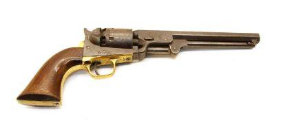 A Colt 1851 Navy revolver,