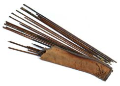 A collection of late 18th/early 19th Moghul Indian arrows with various metalheads