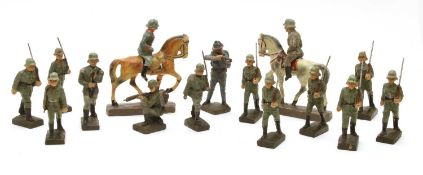 A collection of 1930s-40s World War 2 Nazi toy soldiers,