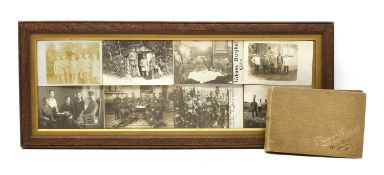 Eight framed World War 1 Imperial German soldiers,