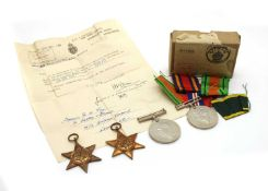 A collection of Second World War medals,
