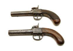 Two 19th century percussion pocket pistols,