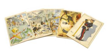 """A set of twenty French comic WWI postcards entitled """"Our Sailors"""""""