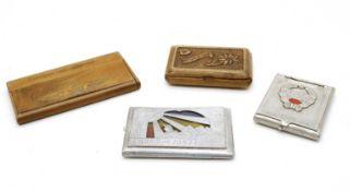 A collection of World War 2 Prisoner of War made cigarette cases