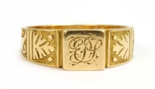 A ladies' Victorian Egyptian Revival 18ct gold signet ring,