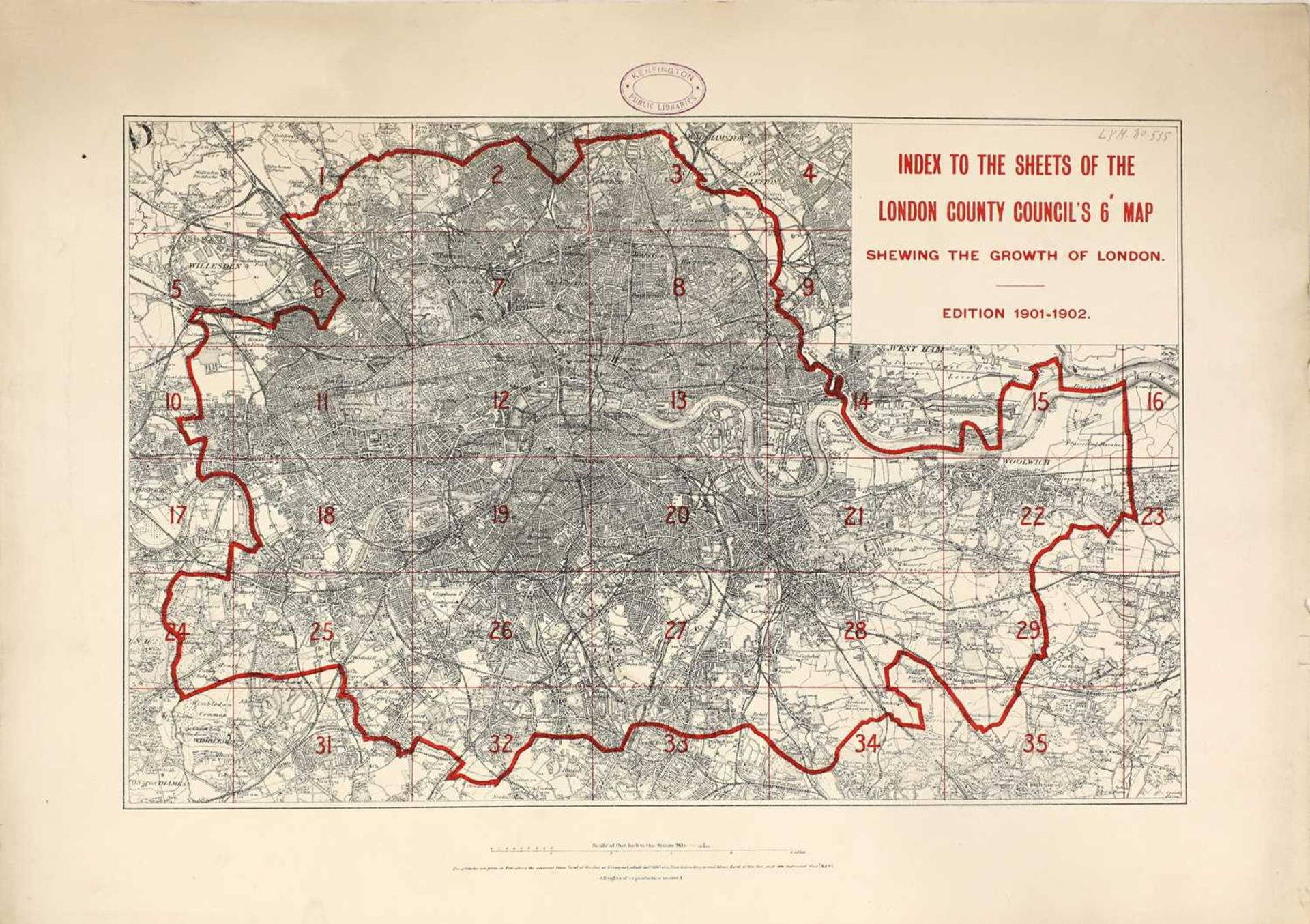 GROWTH OF LONDON MAPS 1901-1902,