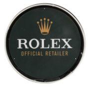 A CONTEMPORARY 'ROLEX OFFICIAL RETAILER' SIGN,