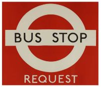 LONDON TRANSPORT BUS STOP REQUEST POSTER