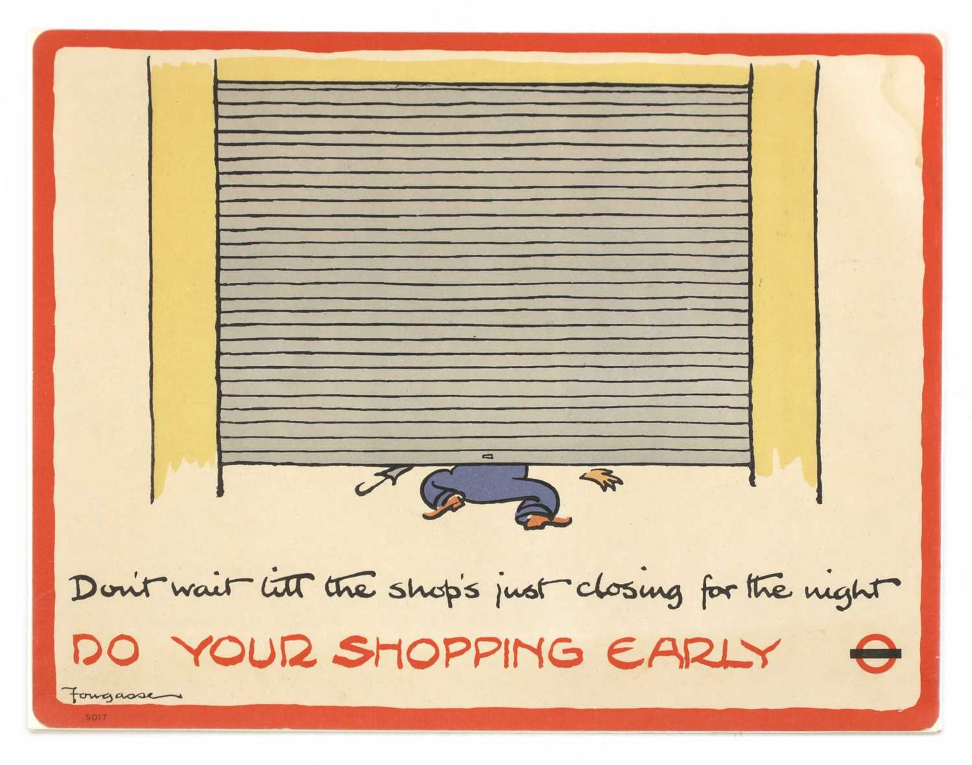 'DO YOUR SHOPPING EARLY'