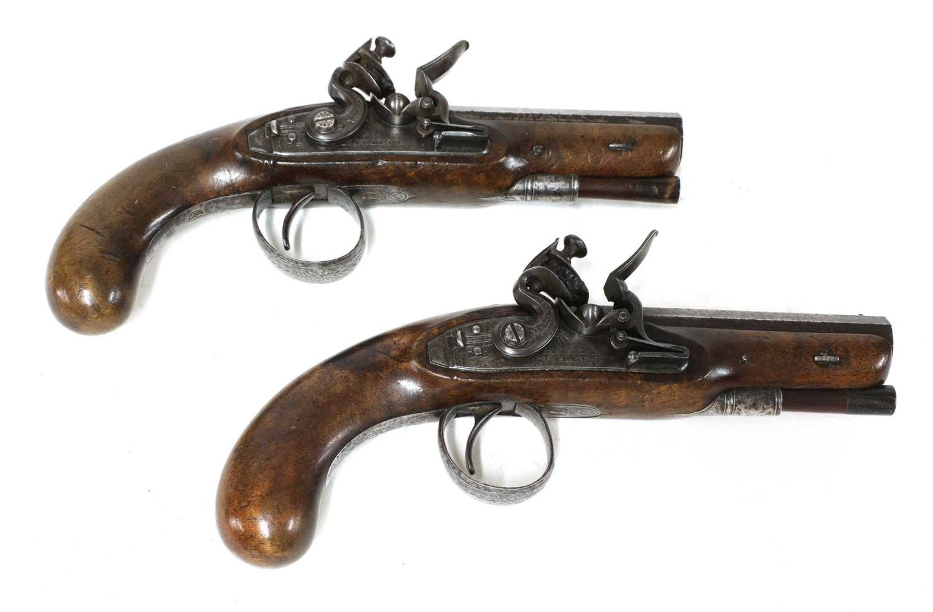 A PAIR OF 'RIVIERE LONDON' POCKET PISTOLS,