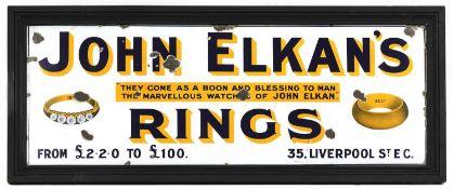JOHN ELKAN'S RINGS,