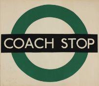 LONDON TRANSPORT COACH STOP POSTER