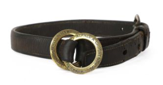 A LEATHER STRAP,