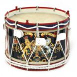 A QUEEN ELIZABETH II ROYAL MARINES TENOR SIDE DRUM,
