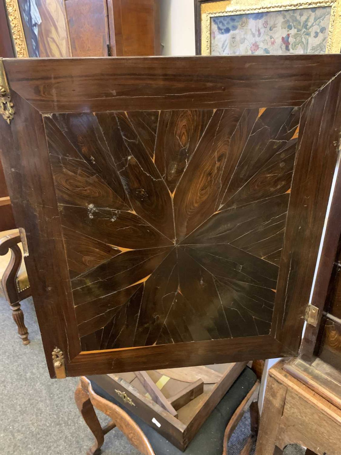 A Queen Anne cocus wood cabinet, - Image 18 of 42