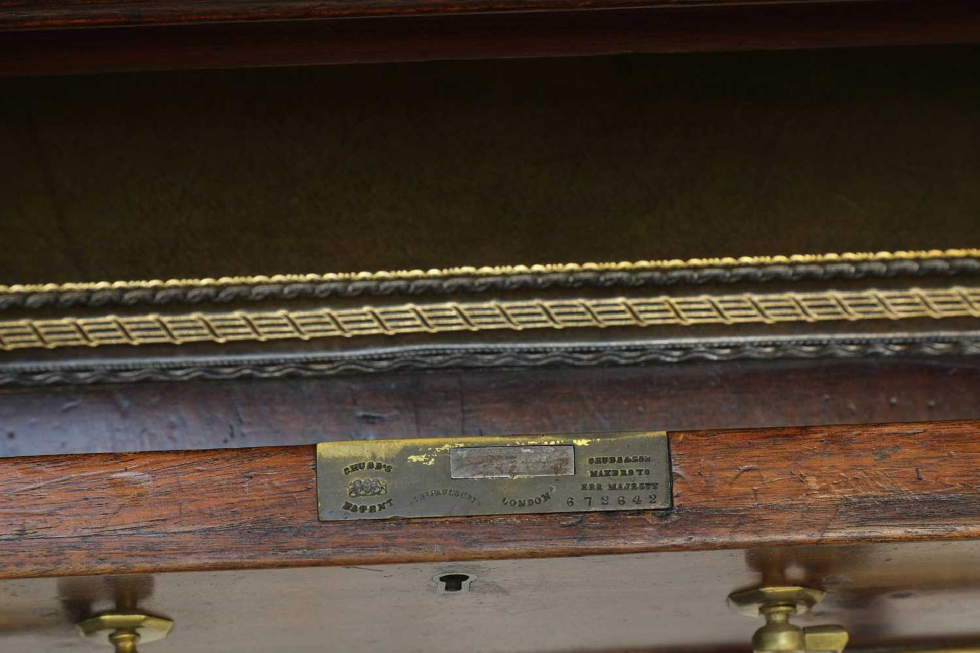 A George III mahogany architect's desk/secretaire, - Image 10 of 30