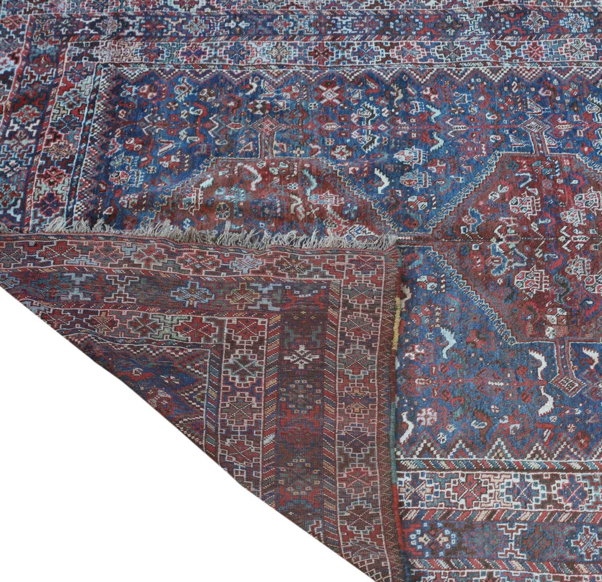 A Persian Khamseh carpet, - Image 2 of 15