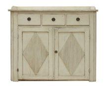 A Gustavian painted dresser,