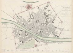 Four maps of Italian cities