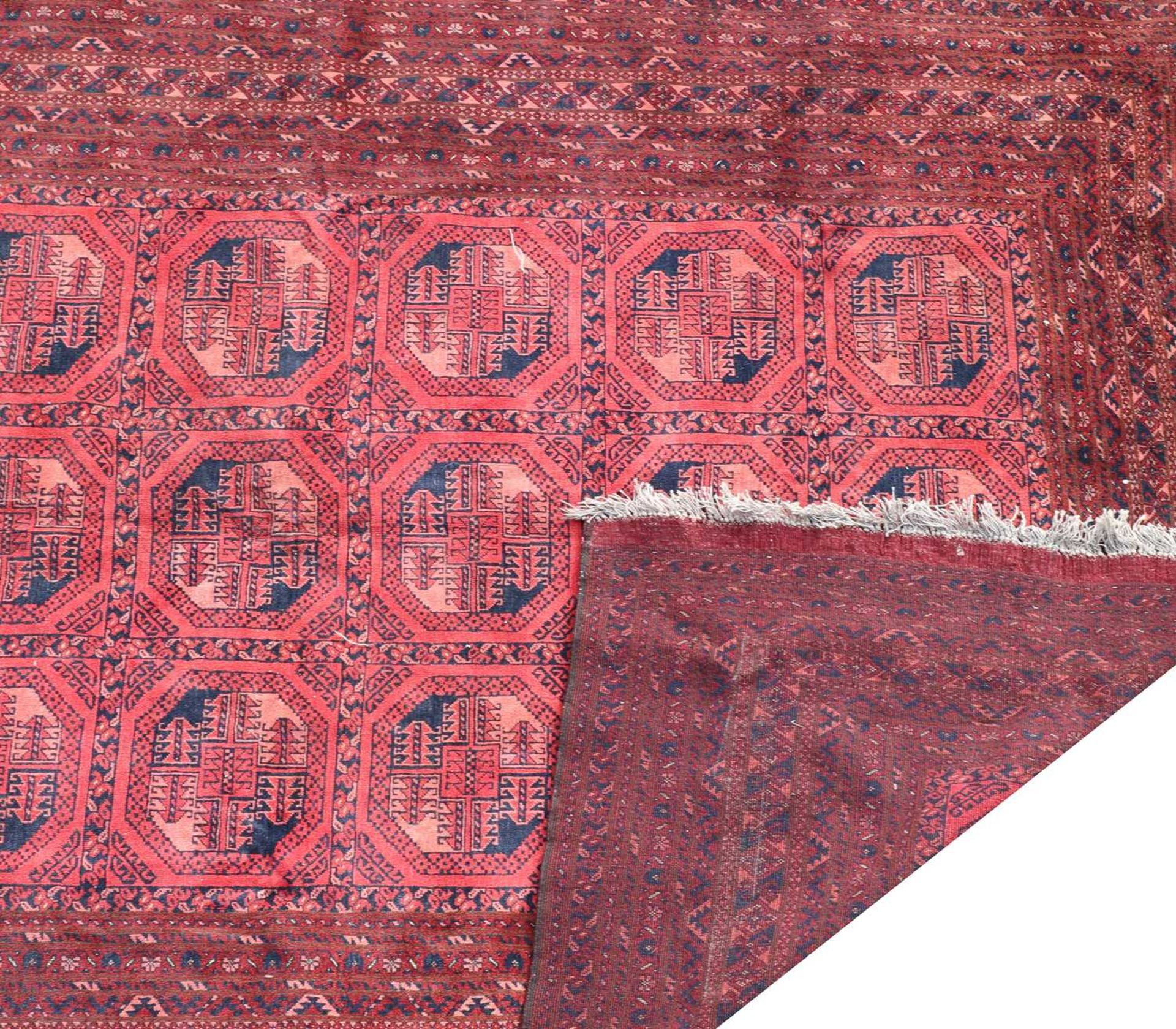 An Afghan carpet, - Image 2 of 2