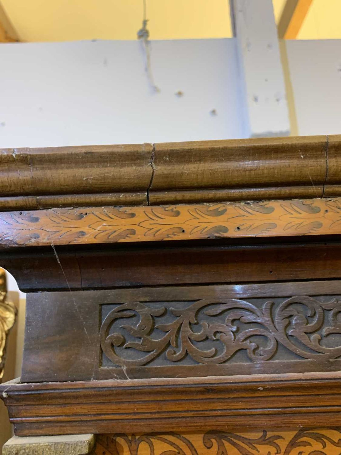 A seaweed marquetry and walnut longcase clock, - Image 8 of 24