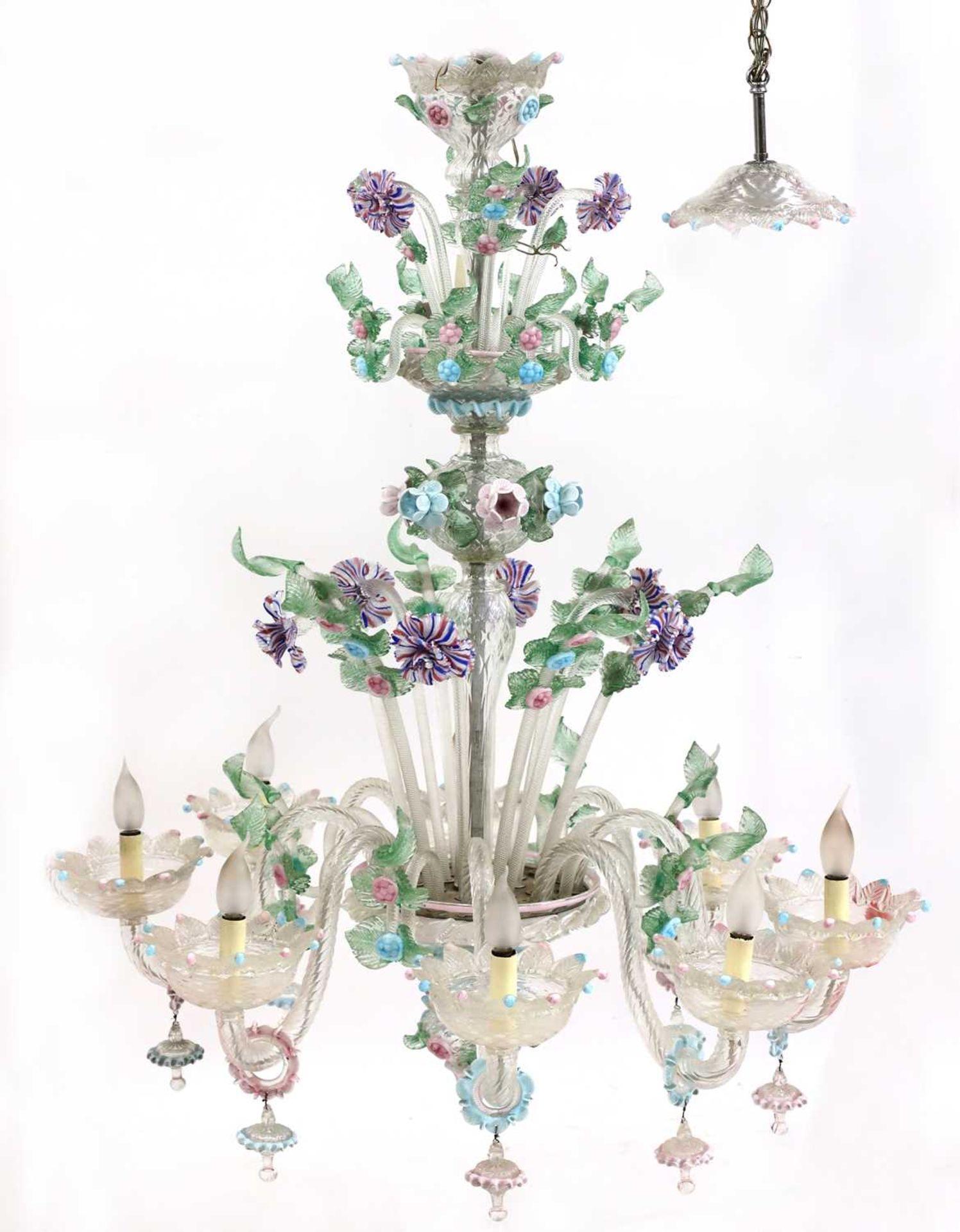 An impressive Murano chandelier,
