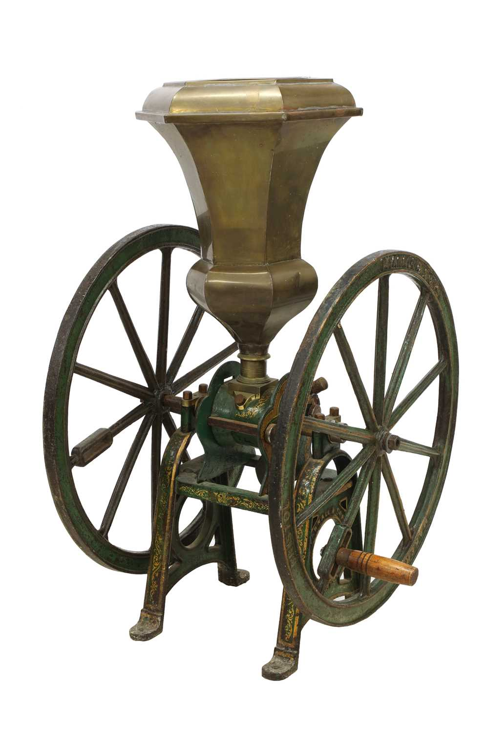 A large coffee grinder by Parnell & Sons,