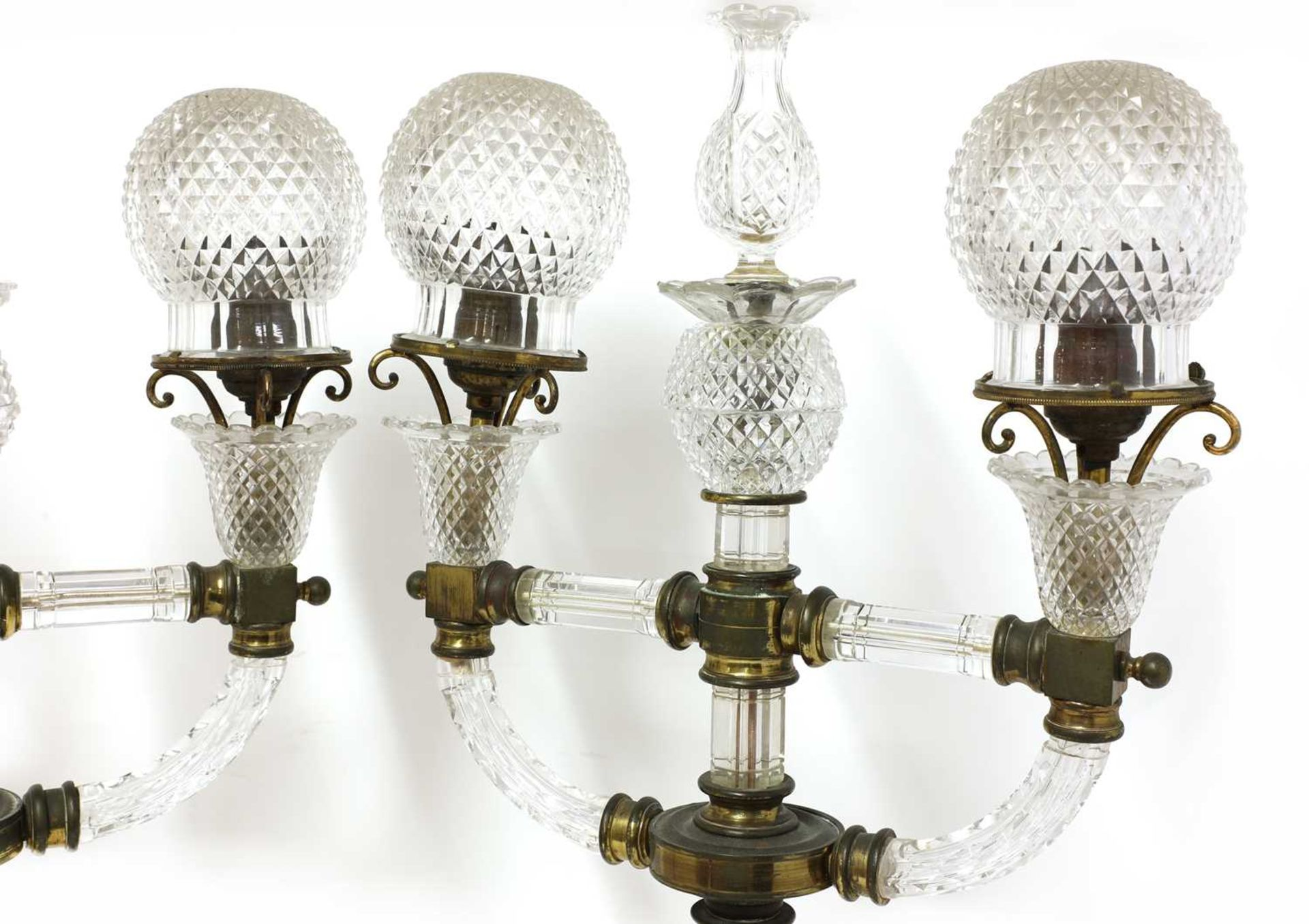 A pair of cut glass and gilt brass electric lamps, - Image 2 of 28