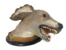 A Finnish terracotta dog's head,