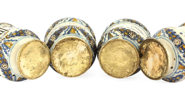 A set of four Italian majolica apothecary jars, - Image 4 of 4