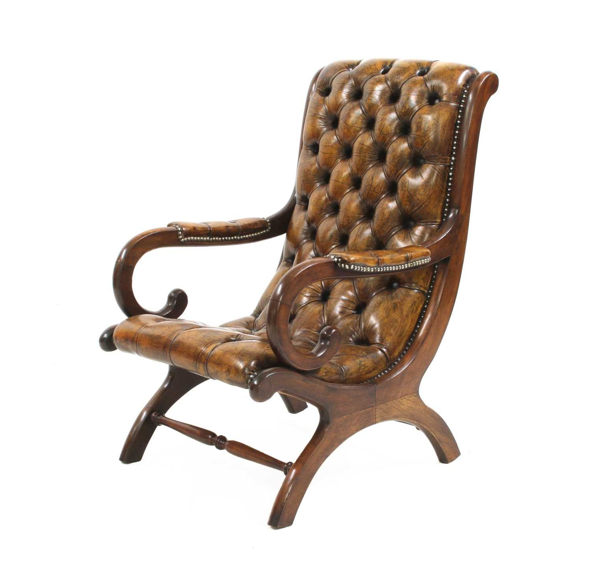 A William IV-style mahogany armchair,