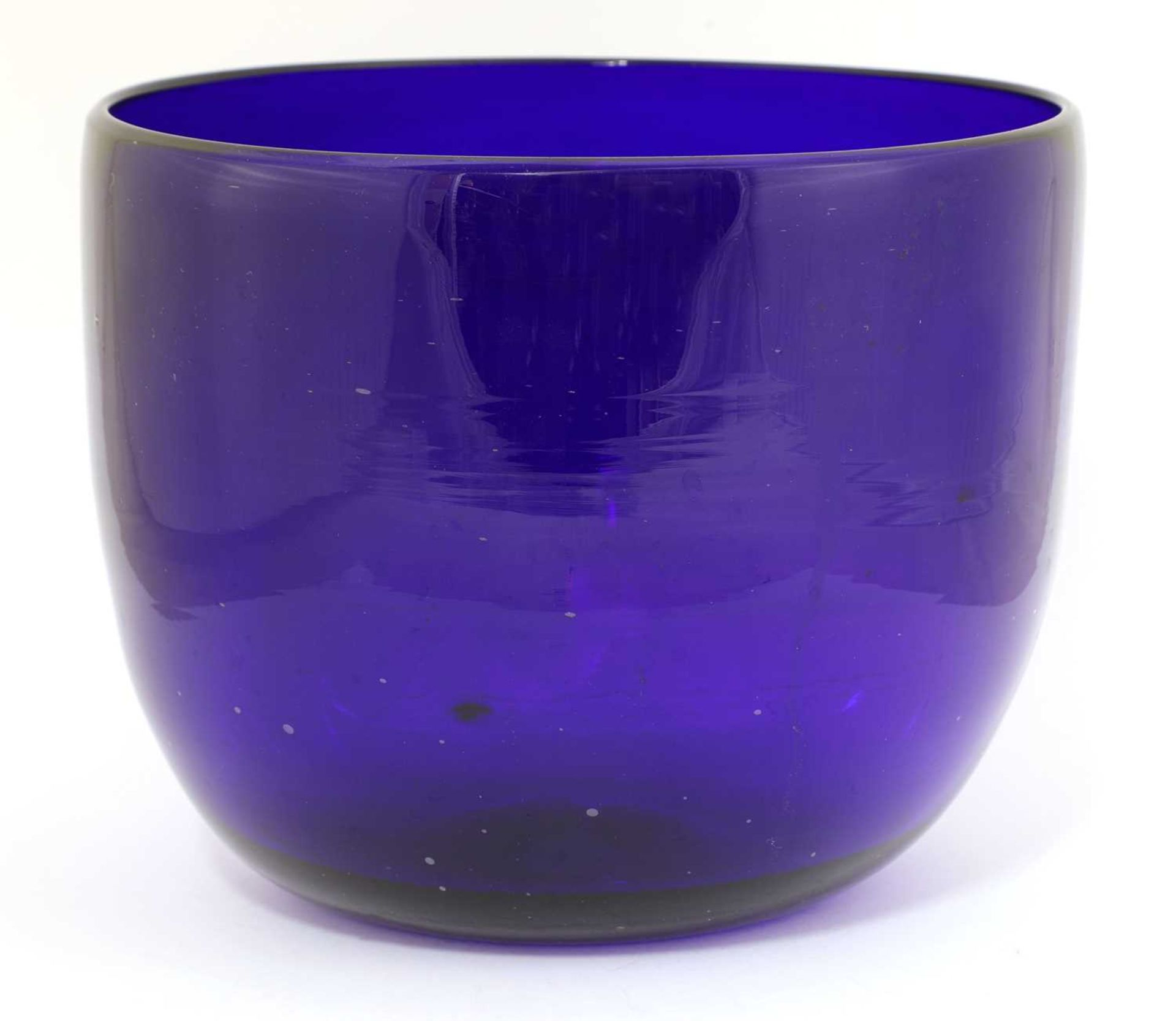 A large 'Bristol' blue glass bowl,