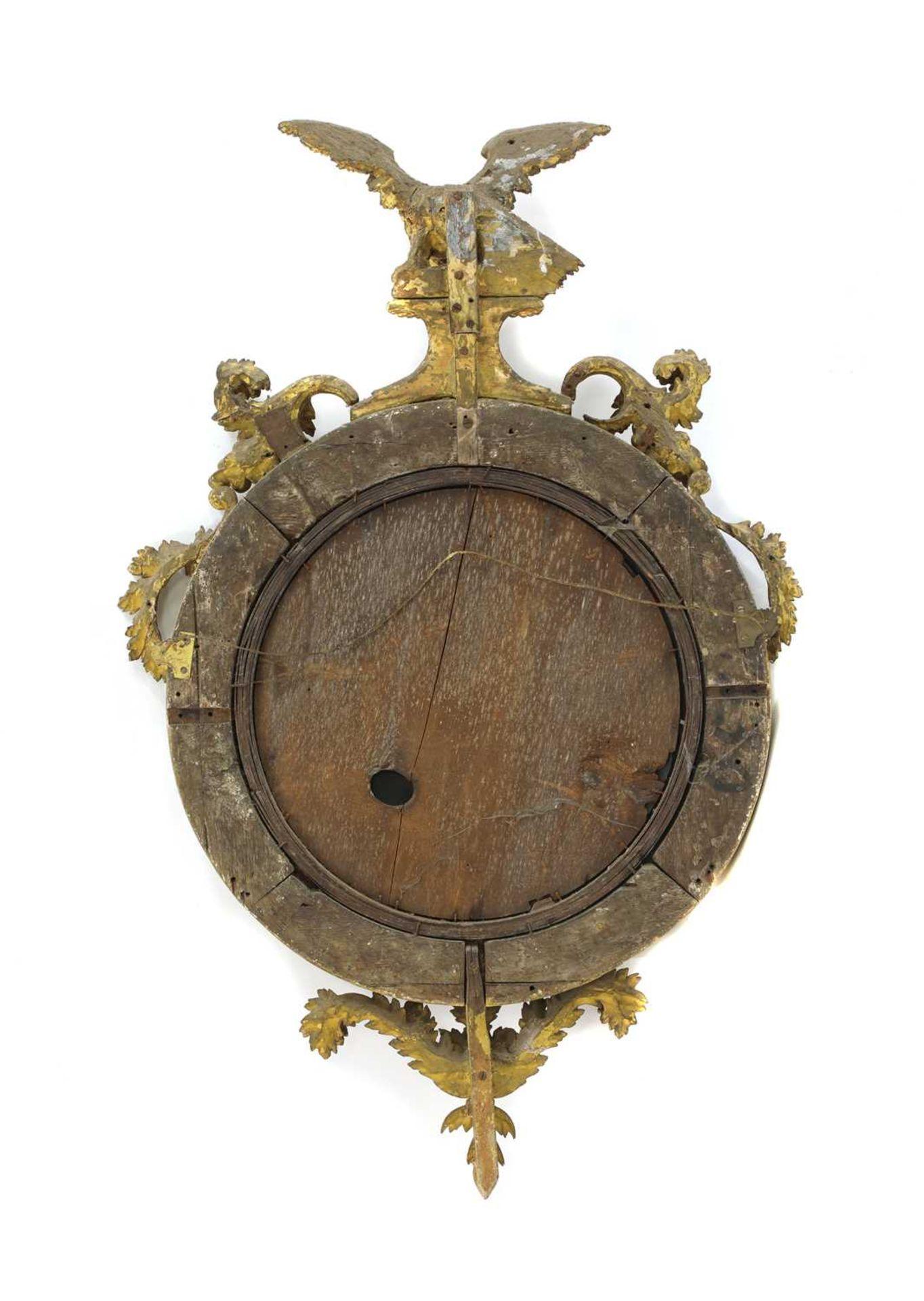 A Regency giltwood convex mirror, - Image 2 of 4