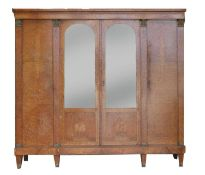 A French burr wood side cabinet,
