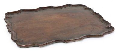 A George III mahogany tray,