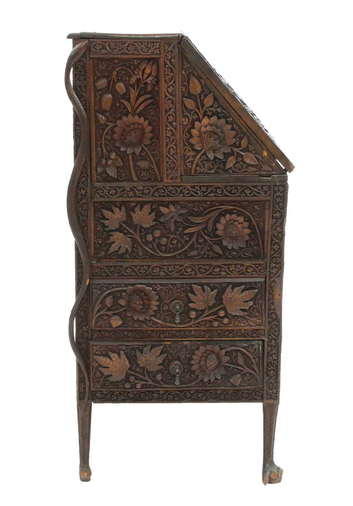 An Anglo-Indian rosewood bureau, - Image 7 of 10