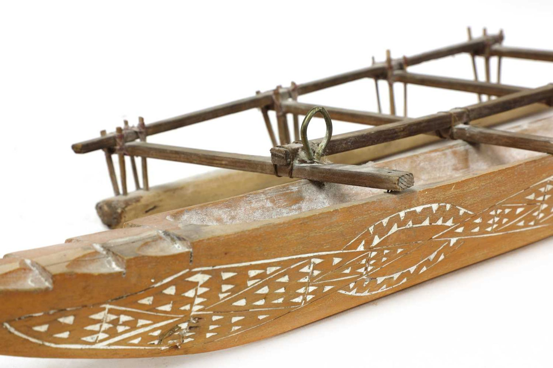 A Tongan carved wooden war club, - Image 2 of 4