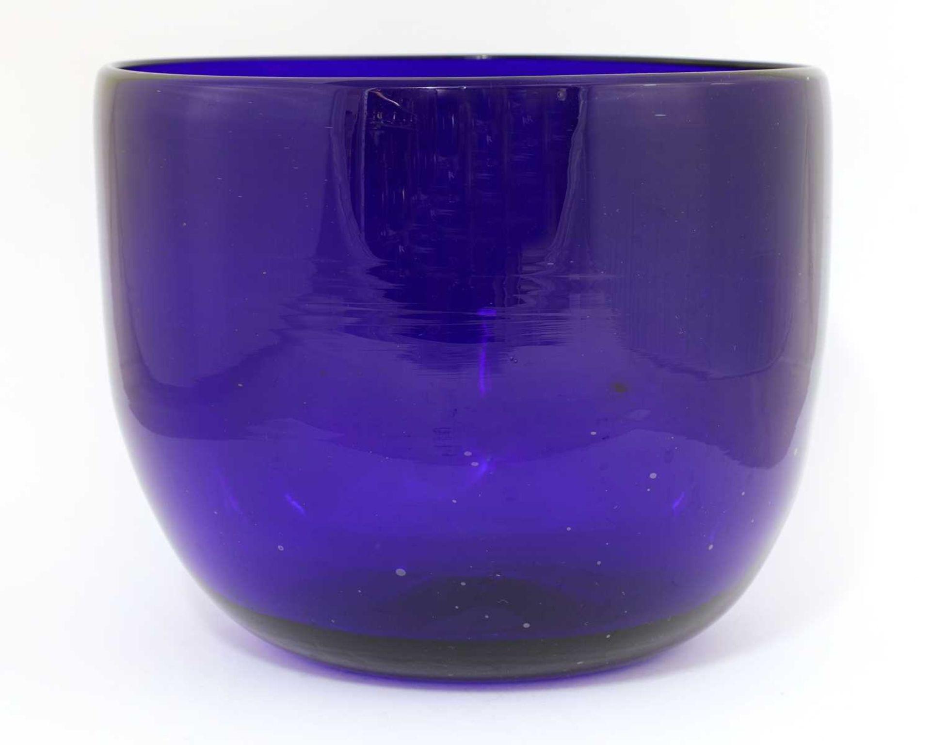 A large 'Bristol' blue glass bowl, - Image 2 of 5