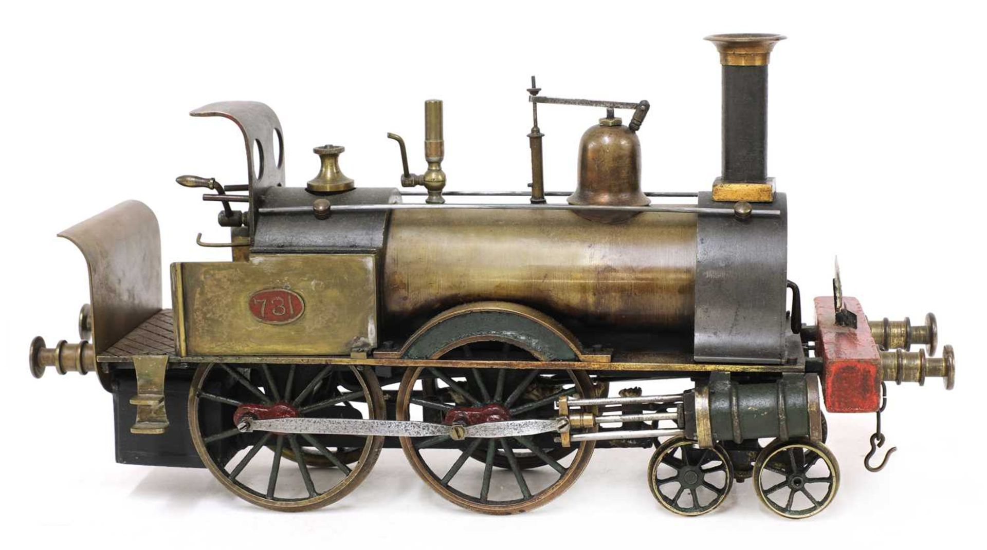 A 3in gauge spirit-fired live steam 4-4-0 Stevens Model Dockyard locomotive no 731, 'Dreadnought', - Image 2 of 8