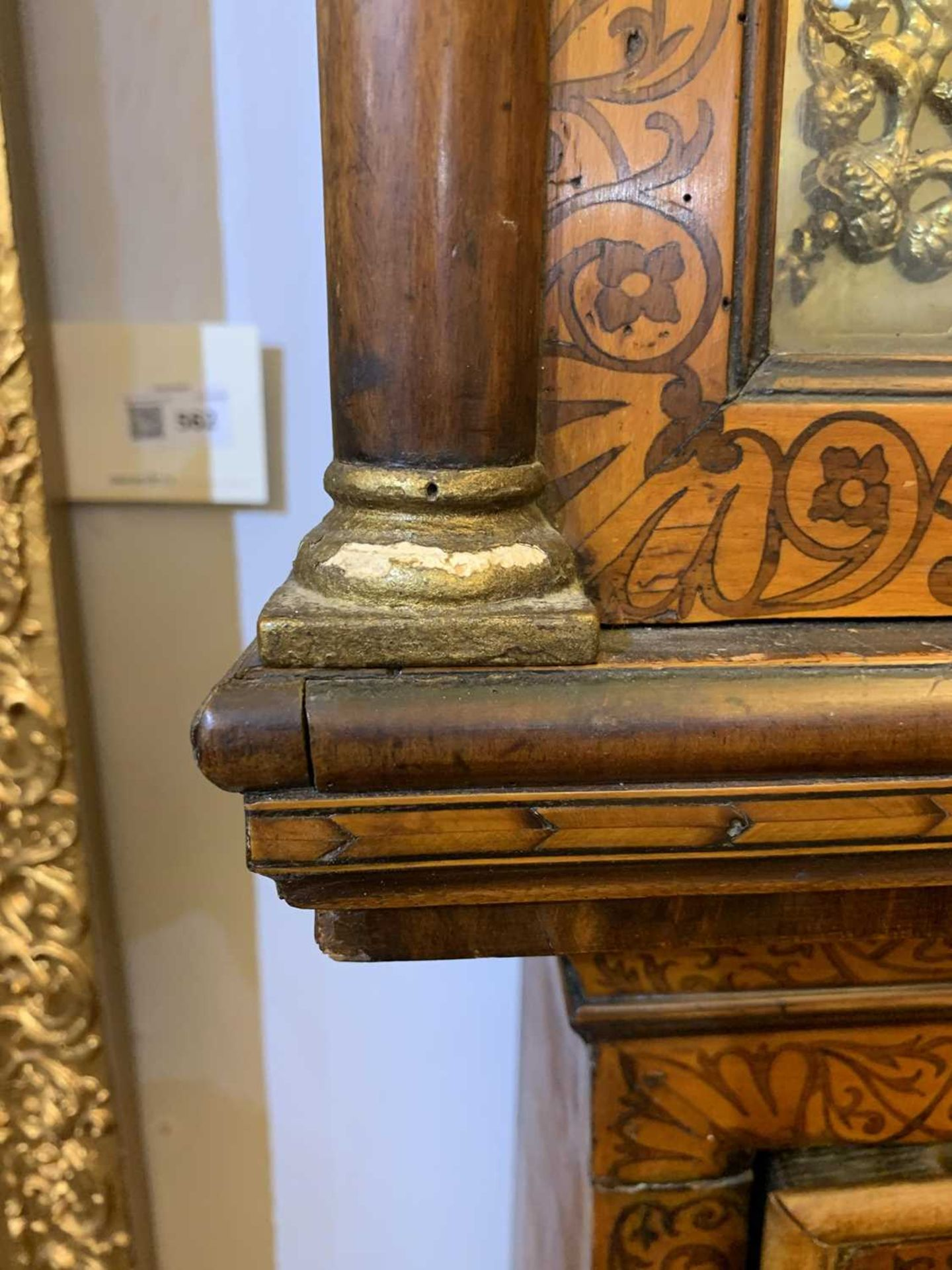 A seaweed marquetry and walnut longcase clock, - Image 14 of 24