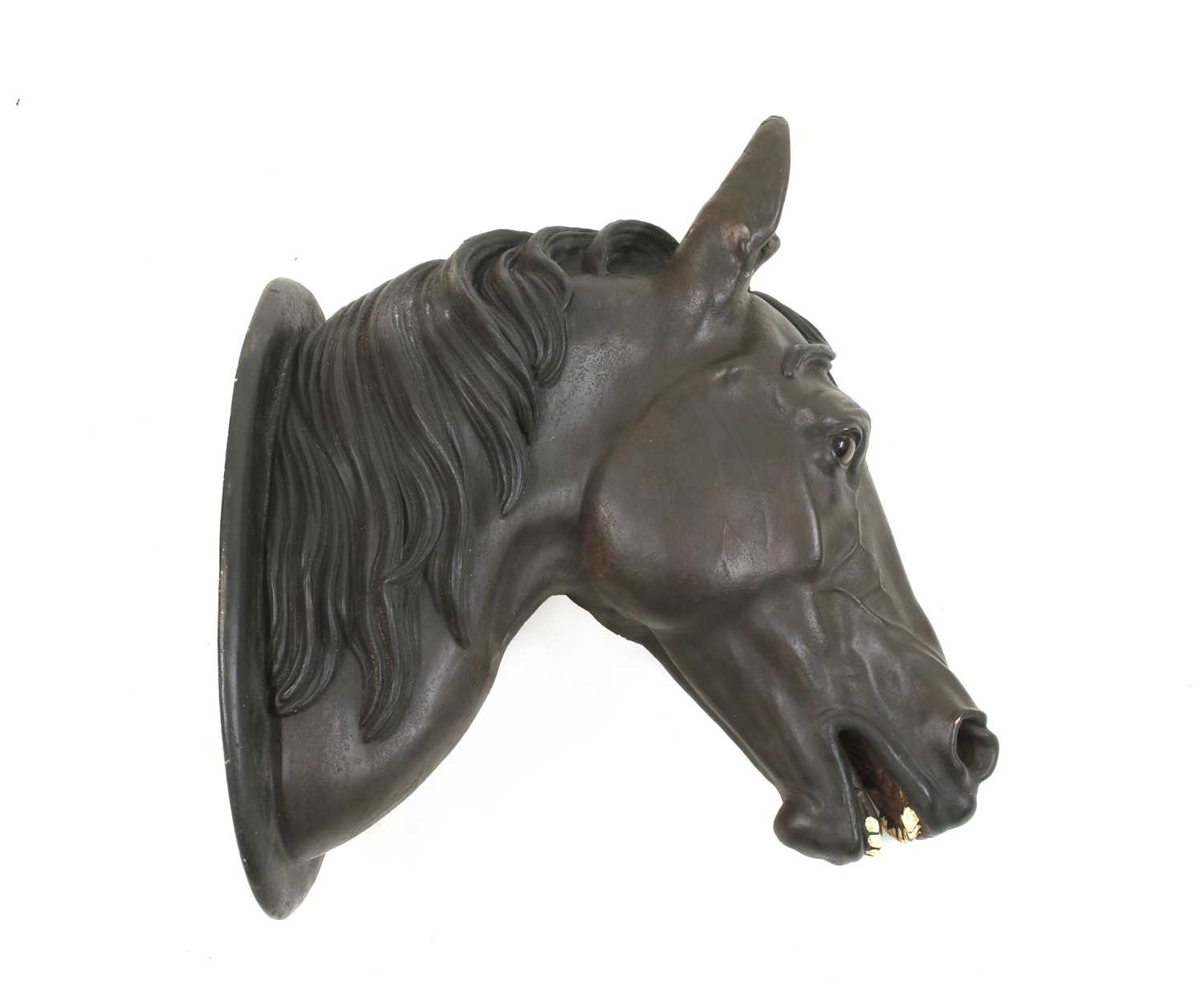 A terracotta horse's head trade sign, - Image 2 of 2