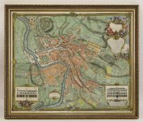 'A Plan of The City of Bristol, survey'd and drawn by John Rocque, engraved by John Pine 1742',