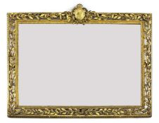 A carved giltwood framed mirror,